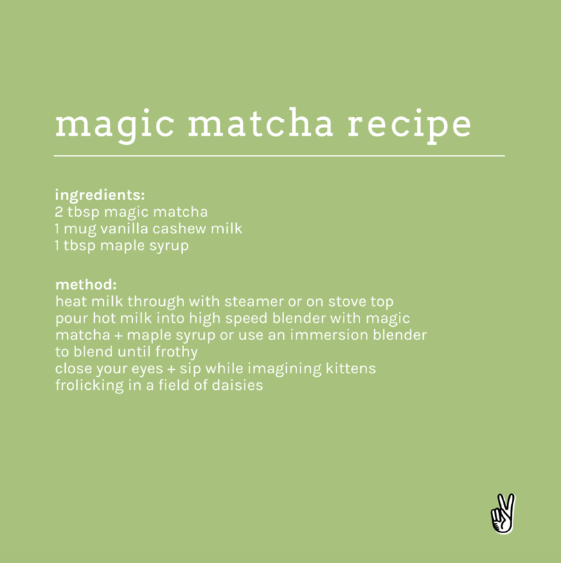 magic matcha recipe card