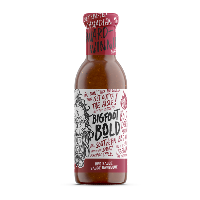 bottle of big foot bold bbq sauce