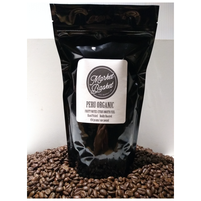bag of Peru organic coffee beans