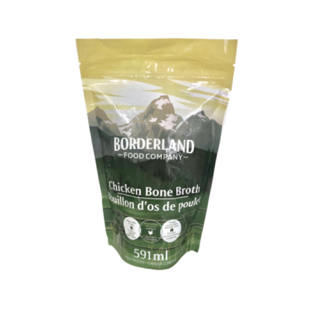 bag of chicken bone broth