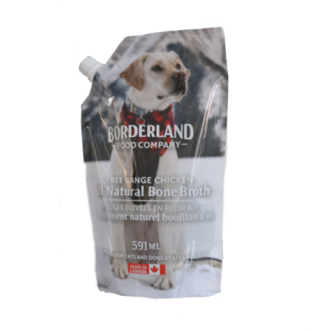 bag of chicken pet bone broth