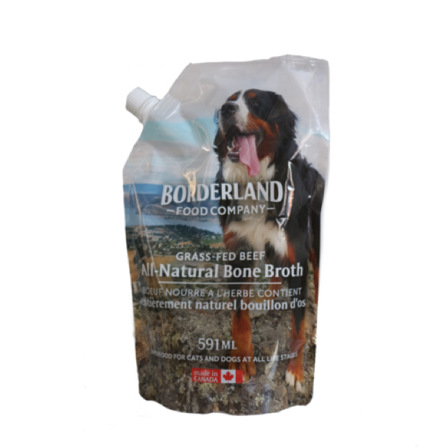 bag of beef pet bone broth