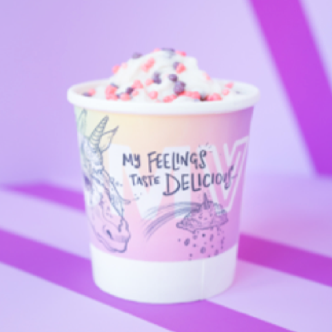 pint of unicorn tears ice cream