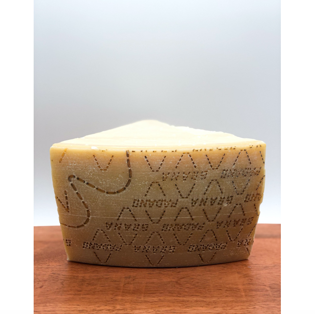 slice of grana Padano cheese