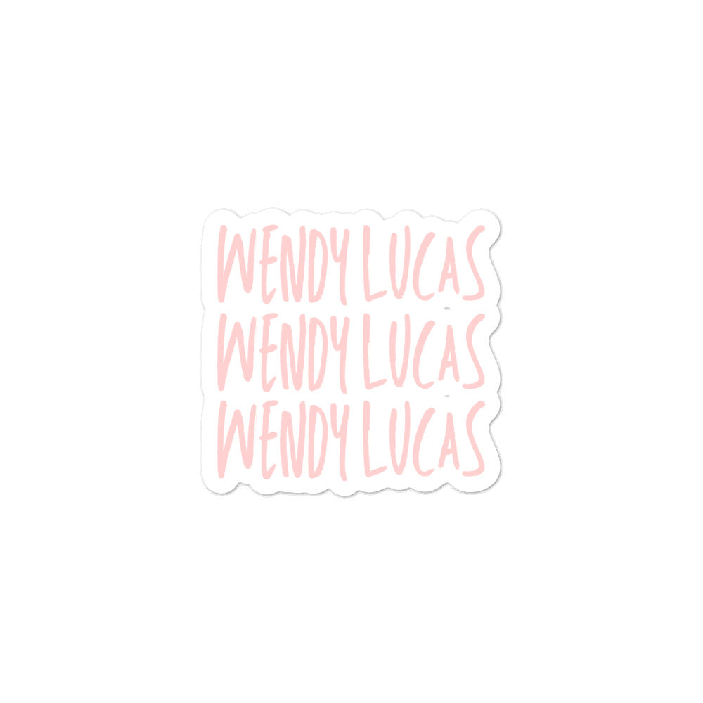 Sticker | Wendy Lucas (Pink)