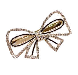 Barrette noeud strass