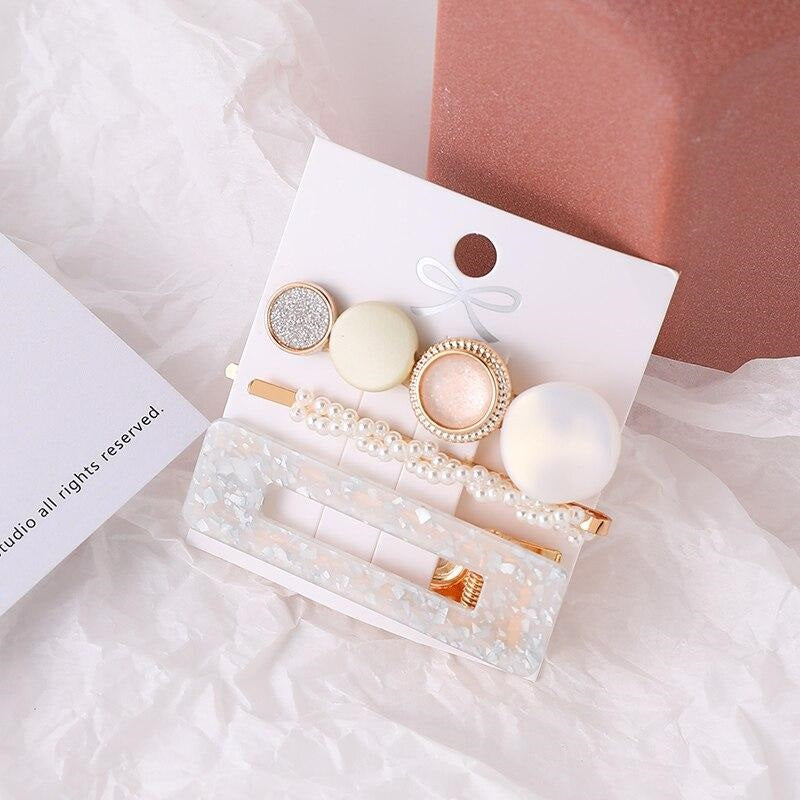 barrettes luxe blanc