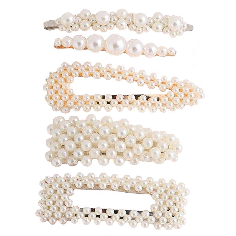 barrettes perles luxe