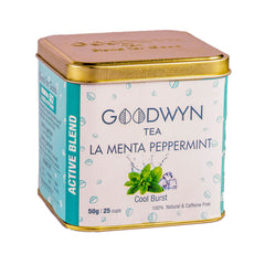 Goodwyn La Menta Peppermint Tea, Herbal Infusion, 50 Grams, Makes 25 Cups