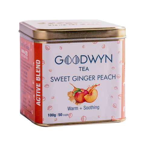 Goodwyn Sweet Ginger Peach Infused Black Tea - 100 Gms (50 Cups)
