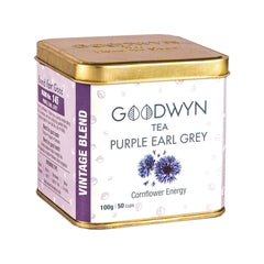 Purple Earl Grey Tea, Orthodox Black Tea with Bergamot Oil, 100 Grams, Makes 50 Cups