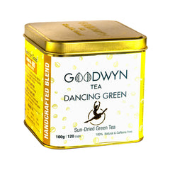 Goodwyn Dancing Green Tea, All Natural Tea for Wellness and Health, 100 Grams, Makes 50 Cups