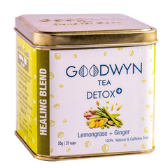 Detox+ |  Lemongrass and Ginger infused tea |  Loose Leaf Tea - 50 Gms - Make 25 Cups