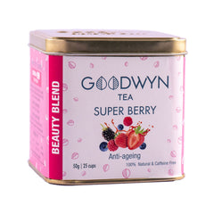 Goodwyn Super Berry Herbal Tea - A Blend of Exotic Berries | 100% Herbal | Freshly Packed - 50 Gms