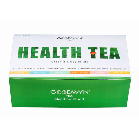 Immunity Boosting Health Green Tea Box, 60 Tea Bags, 6 Green Teas for Different Times and Moods of the Day (Rs. 6.65 per Cup)