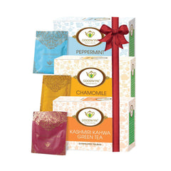 Herbal Tea Combo (Peppermint Tea | Chamomile Tea | Kashmiri Kahwa Green Tea)