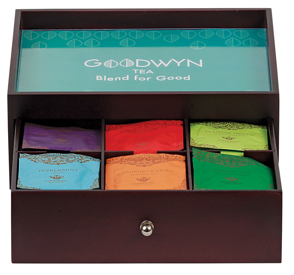 GOODWYN TEA TRAY GIFT BOX 60 TEA BAGS