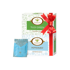 Goodwyn Digestive Teas Combo, Peppermint Tea 20 Tea Bags and Tulsi Green Tea 20 Tea Bags