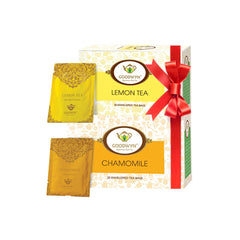 Goodwyn Power Tea Combo, Chamomile Tea 20 Tea Bags and Lemon Tea 20 Tea Bags