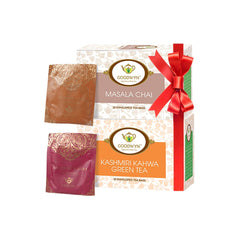 Goodwyn Spiced Tea Combo, Kashmiri Kahwa 20 Tea Bags and Masala Chai, 20 Tea Bags