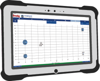 Insight software on tablet