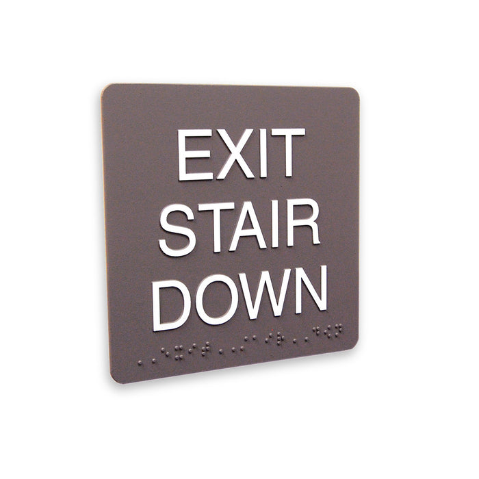 "6"" x 6"" California Code Exit Signs"