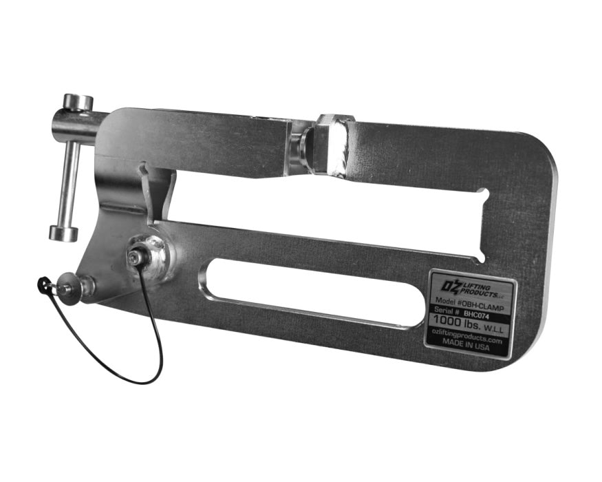 1000lb capacity builder's hoist beam clamp