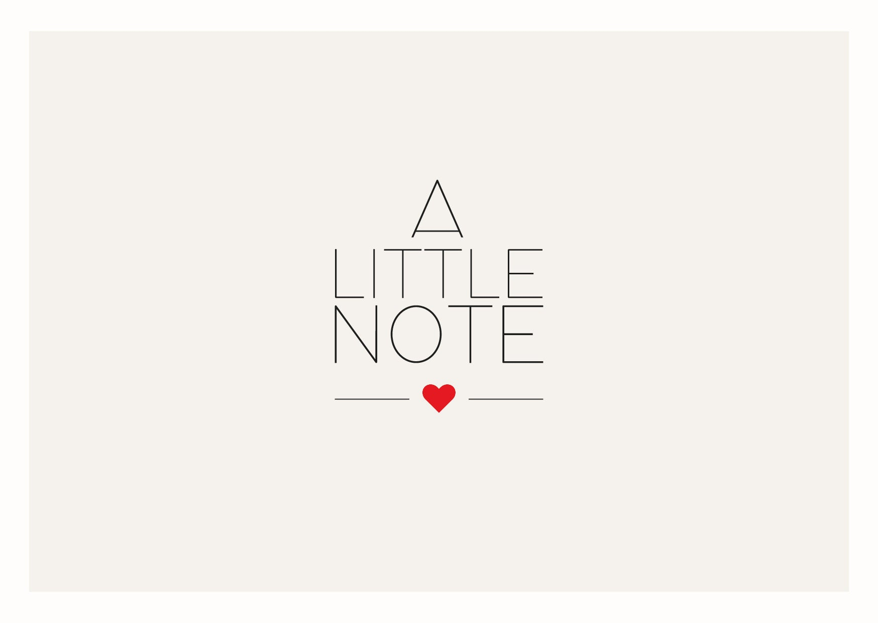 Postkaartje 'A Little Note No°1'