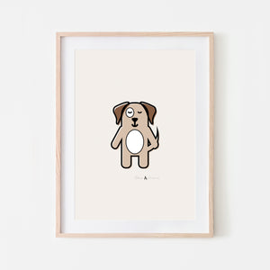 Print 'Cute Little Dog' A4