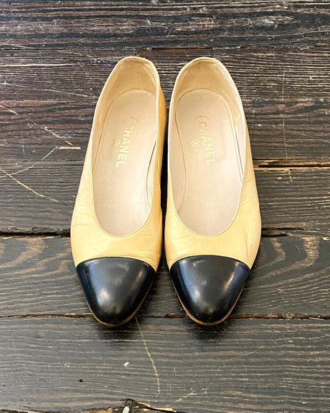 Classic Vintage Chanel Slip On flat  shoe