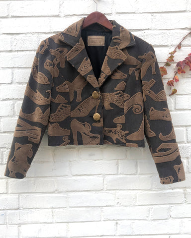 1980's Jacquard Shoe Jacket