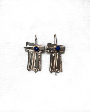 Silver and Lapis Earrings
