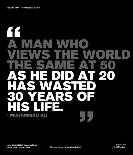Muhammad Ali Best Quotes - A man who views the world the same at 50 as he did at 20 has wasted 30 years of his life.