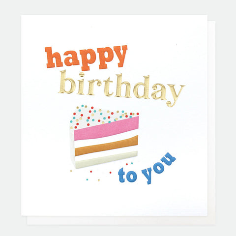 Happy Birthday To You Cake Card