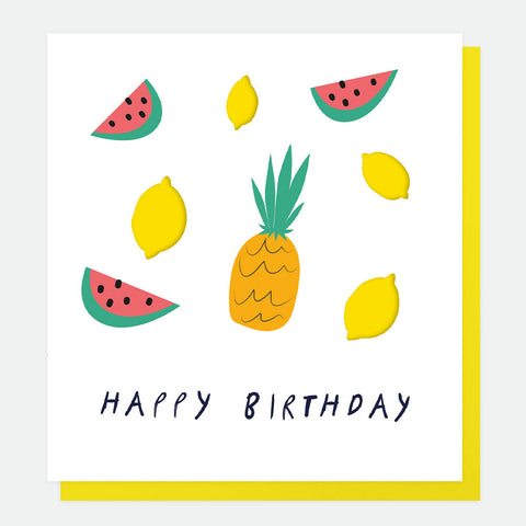 Happy Birthday Tropical Fruit Card