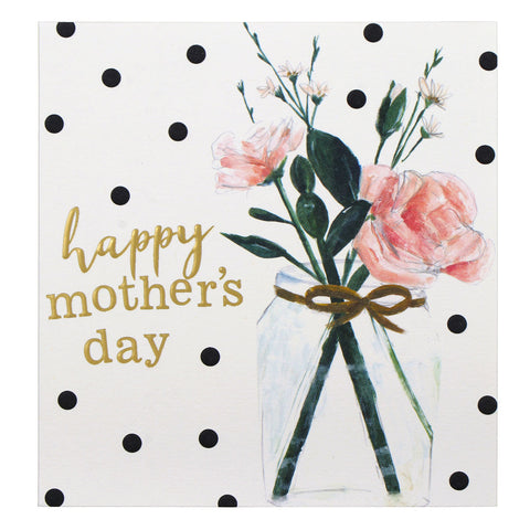 Happy Mothers Day Flower Jar Card