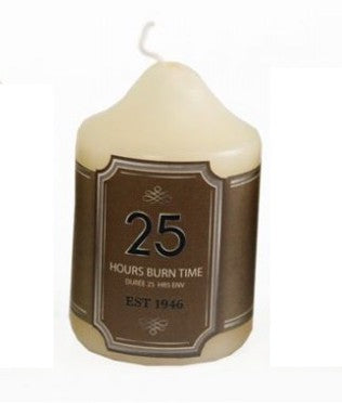 Over Dipped Church Pillar Candle - Cream