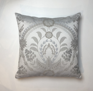 Pearl Grey Jacquard Weave Cushion