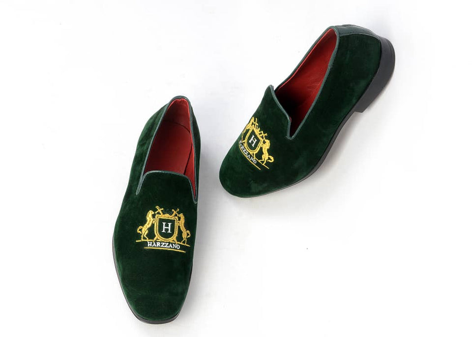 BAROQUE Embroidered Slip On (Green)