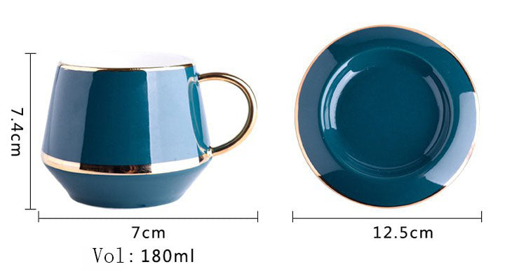 European Style Teacup Gift Set Product Size