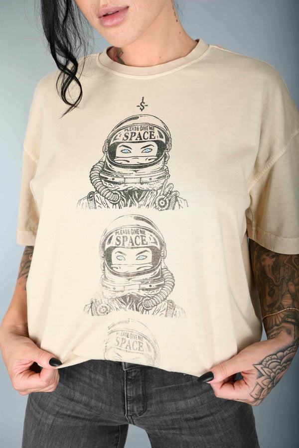 Shell Corp Give Me Space T-Shirt - Sand