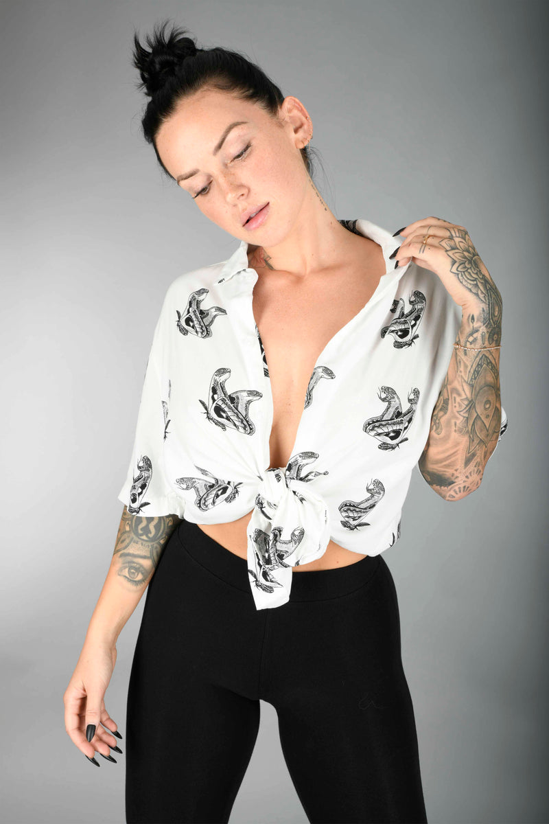 Shell Corp Atlas Moth Shirt - White