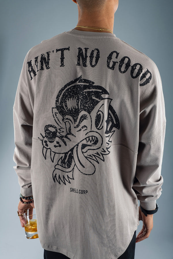 Shell Corp Ain't No Good Long Sleeve - Mushroom