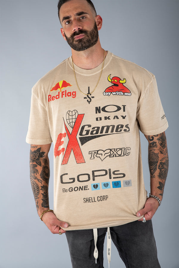Shell Corp Ex Game T-Shirt - Sand