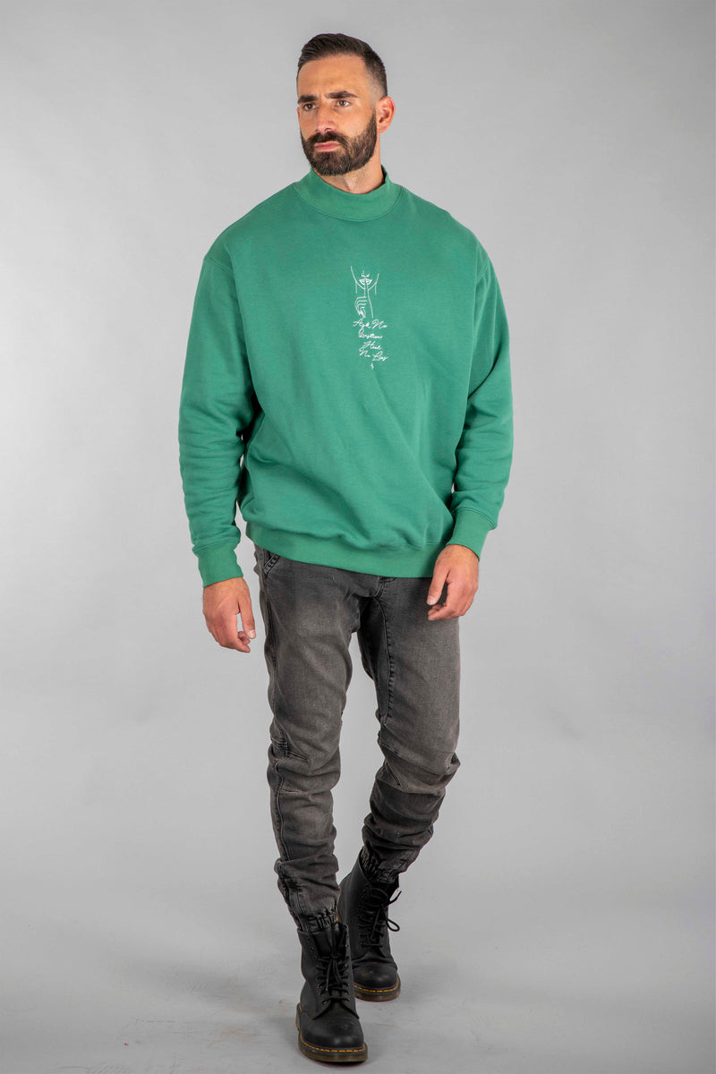 Shell Corp Ask No Questions Hear No Lies Sweater - Green