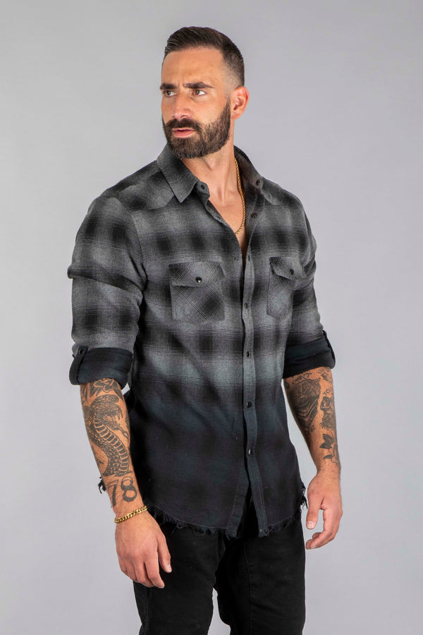 Shell Corp Sell Your Soul Flannel - Black/Grey