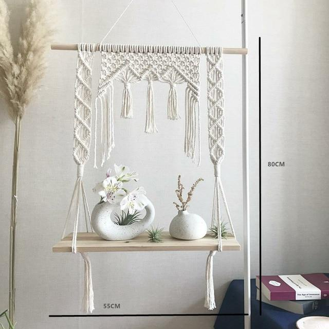 Macrame Hanging Shelves