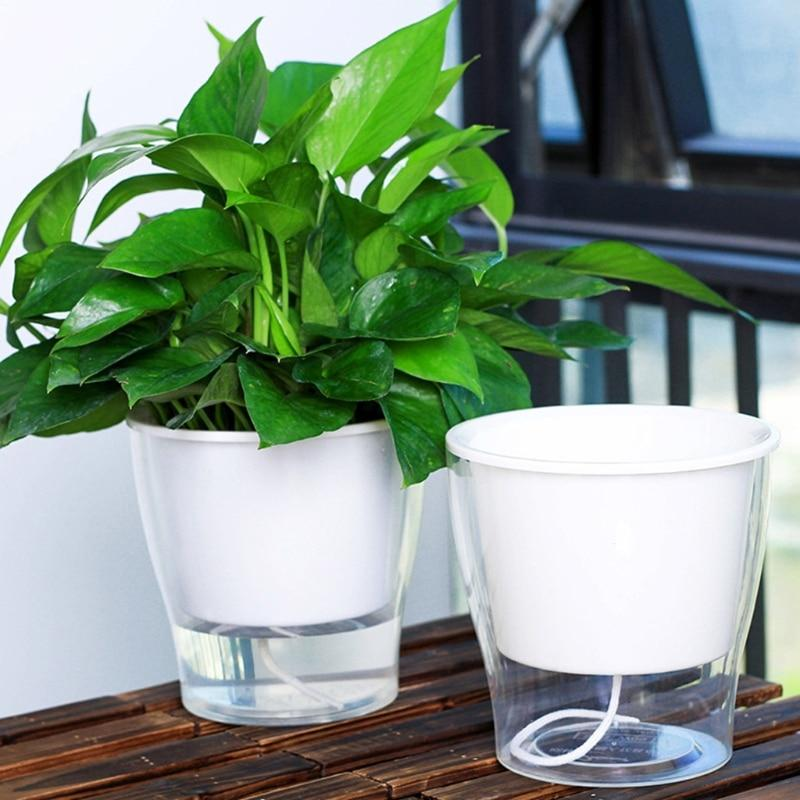 Clean Modern Self Watering Pot