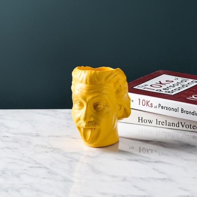 Einstein Tongue Out Face Planter