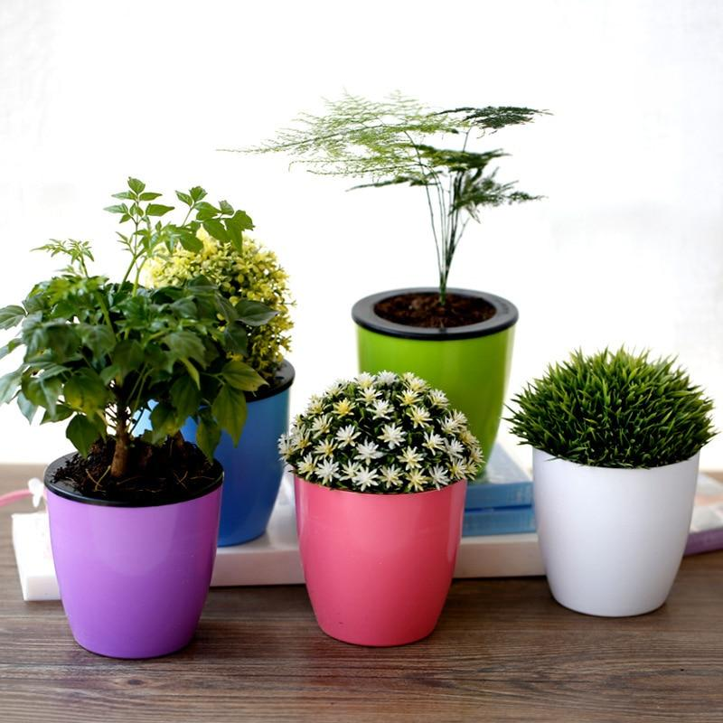 Pastel Colored Self Watering Pots
